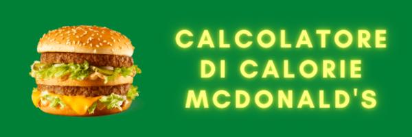 Calcolatore Caloire McDonald's